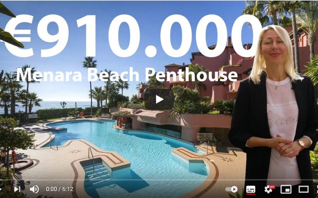 Menara Beach Luxury penthouse for sale in Estepona video tour